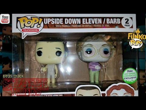 6f4bd4cbac5 Stranger Things  Upside Down Eleven and Barb ECCC Exclusive Funko Pop 2  Pack Review!