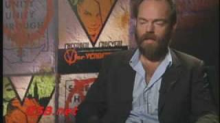 Hugo Weaving V For Vendetta Interview Youtube