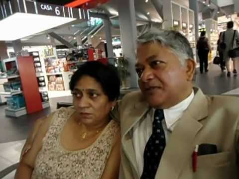 Aruna & Hari Sharma flying Swiss Air from Bucharest Otopeni to Zürich July 6th, 2012.mov