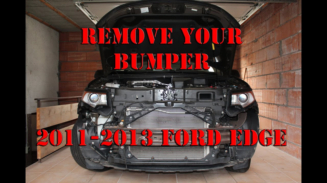 Ford Edge 2011 Bumper Removal Youtube