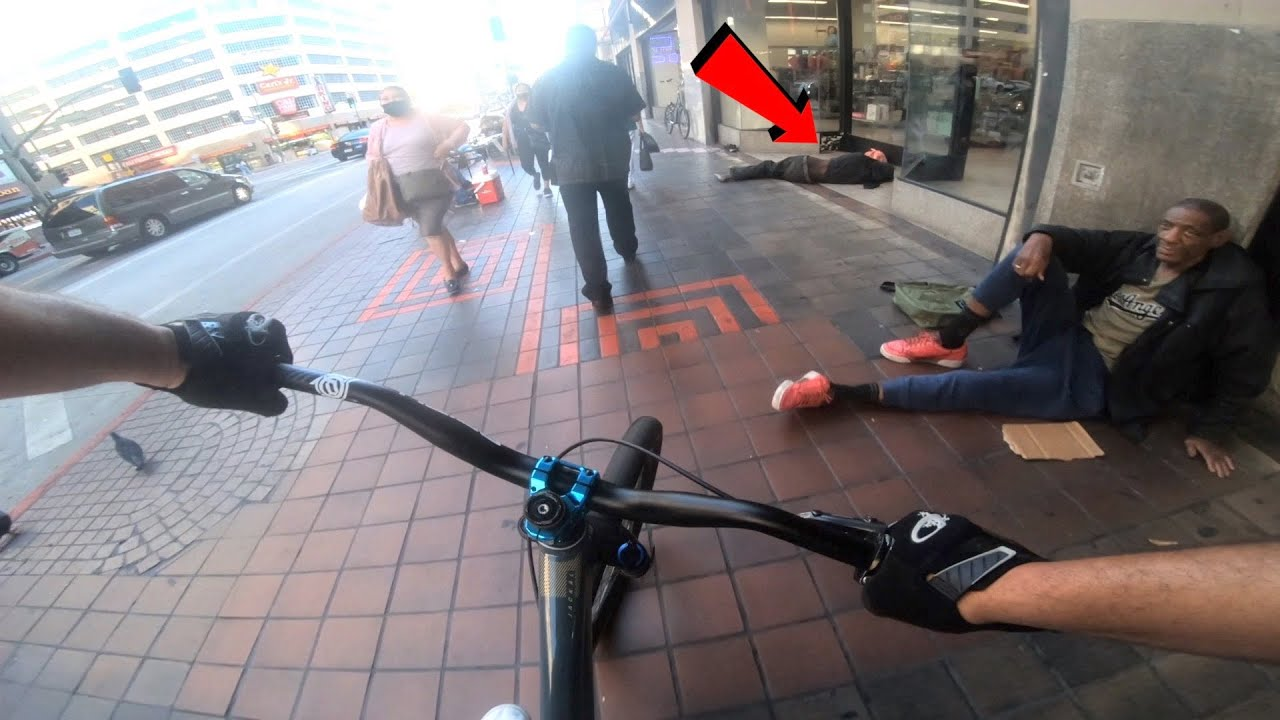 HERE'S WHAT I SAW RIDING BMX THROUGH DOWNTOWN LOS ANGELES..