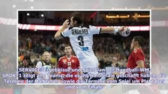 Handball-WM: Deutschland im Halbfinale - der Spielplan bis zum Finale