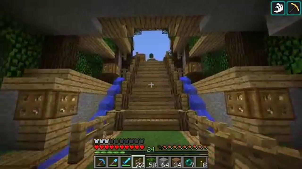 Minecraft Man Cave Ideas : Etho plays minecraft episode home entrance youtube