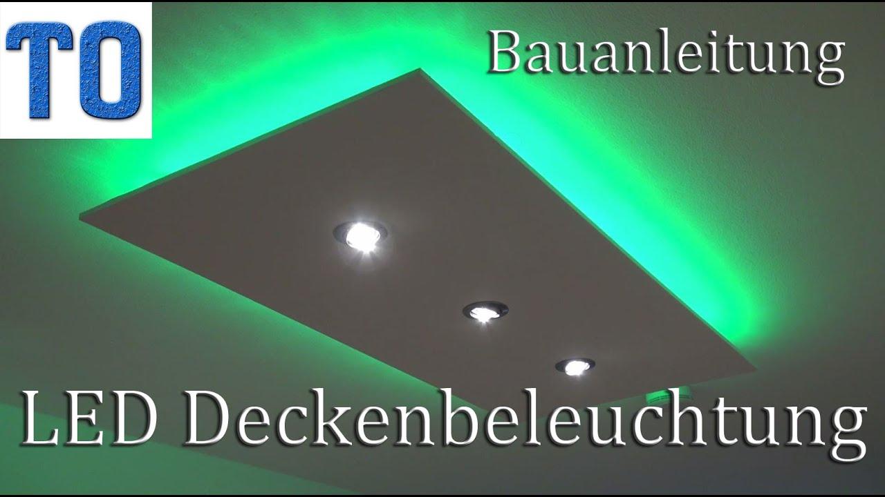 led deckenleuchte selber bauen | direktes und indirektes led licht, Wohnzimmer dekoo