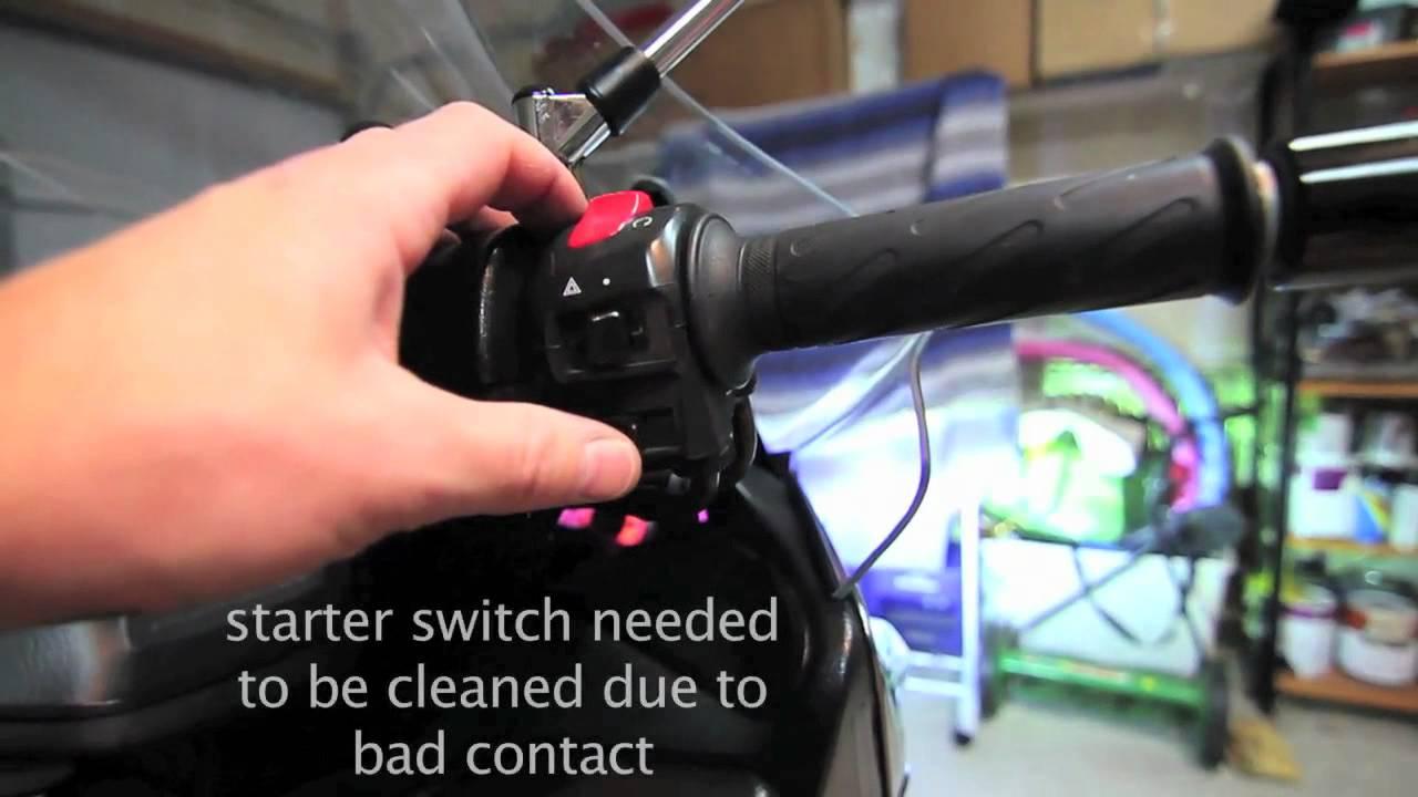 07 Suzuki Burgman 400 Starter Switch Problem