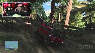 GTA 5: Armored Car Robbery and Crazy Chase - IGN Live