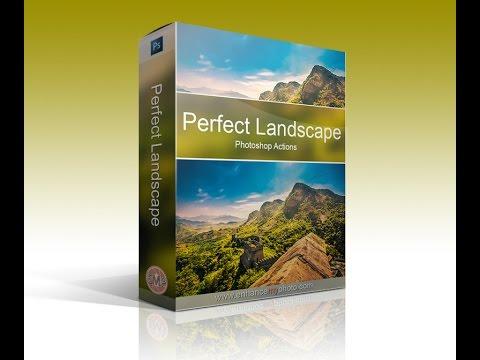 The Perfect Landscape Photoshop Actions Enhancemyphoto Com Youtube