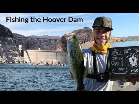 Bass Fishing The HOOVER DAM! Catching Fish With MTB