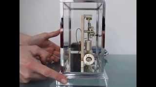 Ato Mantel Clock France Chrome Glass Electromagnetic Bauhaus Art Deco Rare