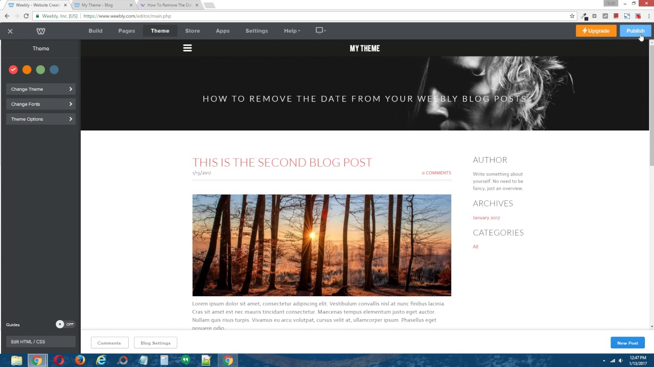 weebly blog templates
