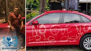 """""""Me confundieron"""", dice dueño del coche rayado por supuesta infidelidad"""