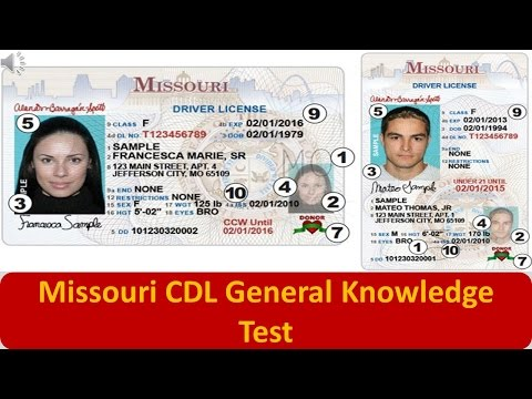 Missouri CDL General Knowledge Test