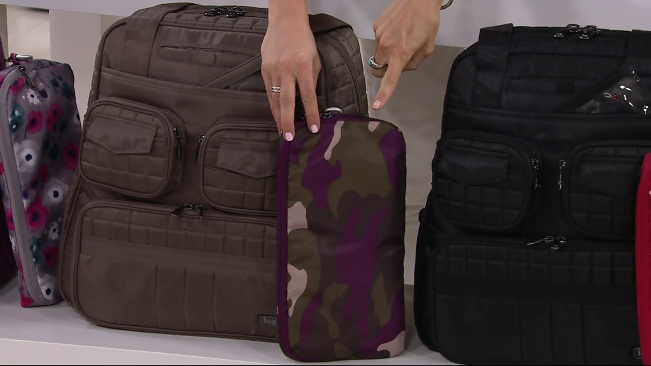 0883fdc2f Lug Puddle Jumper Travel Bag with Packable Carry-All on QVC - YouTube