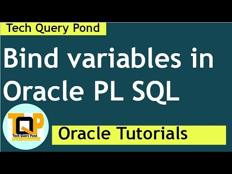 Oracle tutorial : Bind variables in PL SQL