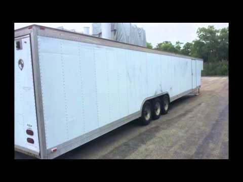 For Sale Gold Rush 48 5th Wheel Gooseneck Enclosed Car Hauler Cargo Trailer 18000 GW