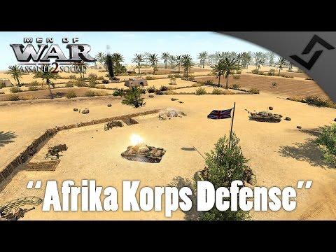 MEN OF WAR: ASSAULT SQUAD 2 - Afrika Korps Defense - Base Defense Mod