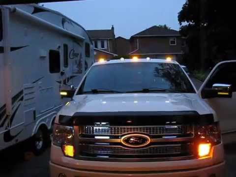 Led Cab Lights F150 With Led Flasher Youtube