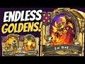 GOLDEN NOMI & LIL' RAG!! Tess Absolutely FARMS Endless Elementals! | Battlegrounds | Hearthstone