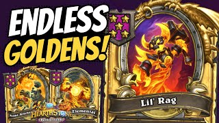 GOLDEN NOMI & LIL' RAG!! Tess Absolutely FARMS Endless Elementals! | Battlegrounds | Hearthstone