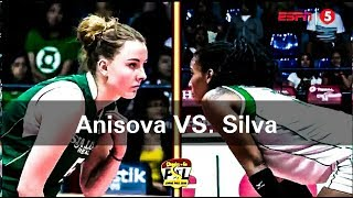 Dana Anisova VS. Gyselle Silva- showdown & staredowns