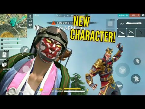 Wukong Works New Character Update Garena Free Fire Youtube