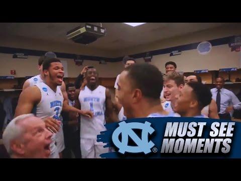 UNC Basketball Is Elite: Locker Room Celebration After Win Over Indiana
