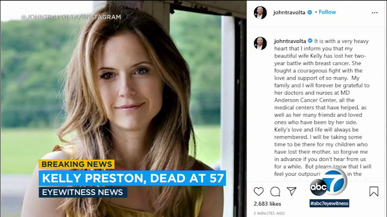 'Jerry Maguire' actress Kelly Preston, wife of John Travolta, dies of ...