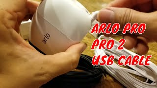 Arlo Pro and Pro2  Netgear 20 foot usb cable for continuous charging 20feet