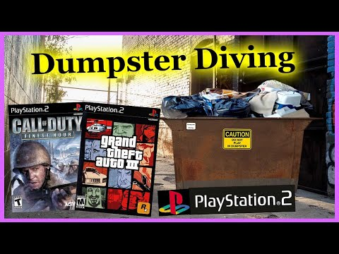 found-playstation-video-games-dumpster-diving-#313
