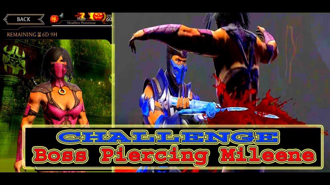 Mortal Kombat X. Normal CHALLENGE Boss Piercing Mileene  Game Play!2019