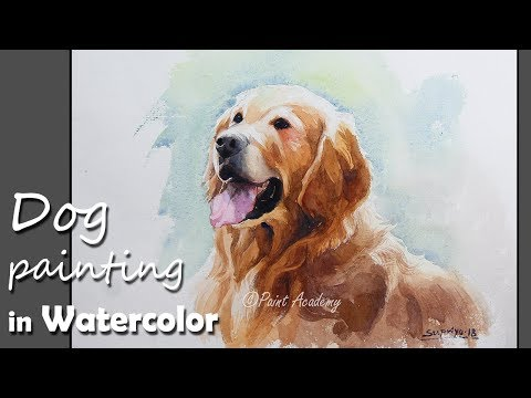 how-to-paint-dog-in-watercolor-|-golden-retriever-painting