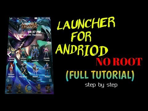 MOBILE LEGEND LAUNCHER | FULL TOTURIAL FOR ANDRIOD | NO ROOT | STEP BY STEP