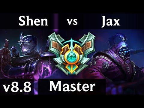 SHEN vs JAX (TOP) ~ 1300+ games, KDA 4/1/18 ~ Korea Master ~ Patch 8.8