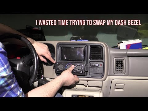Why You Shouldn't Swap An 03-06 Dash Into Your 00-02 Yukon/Tahoe For A Double DIN