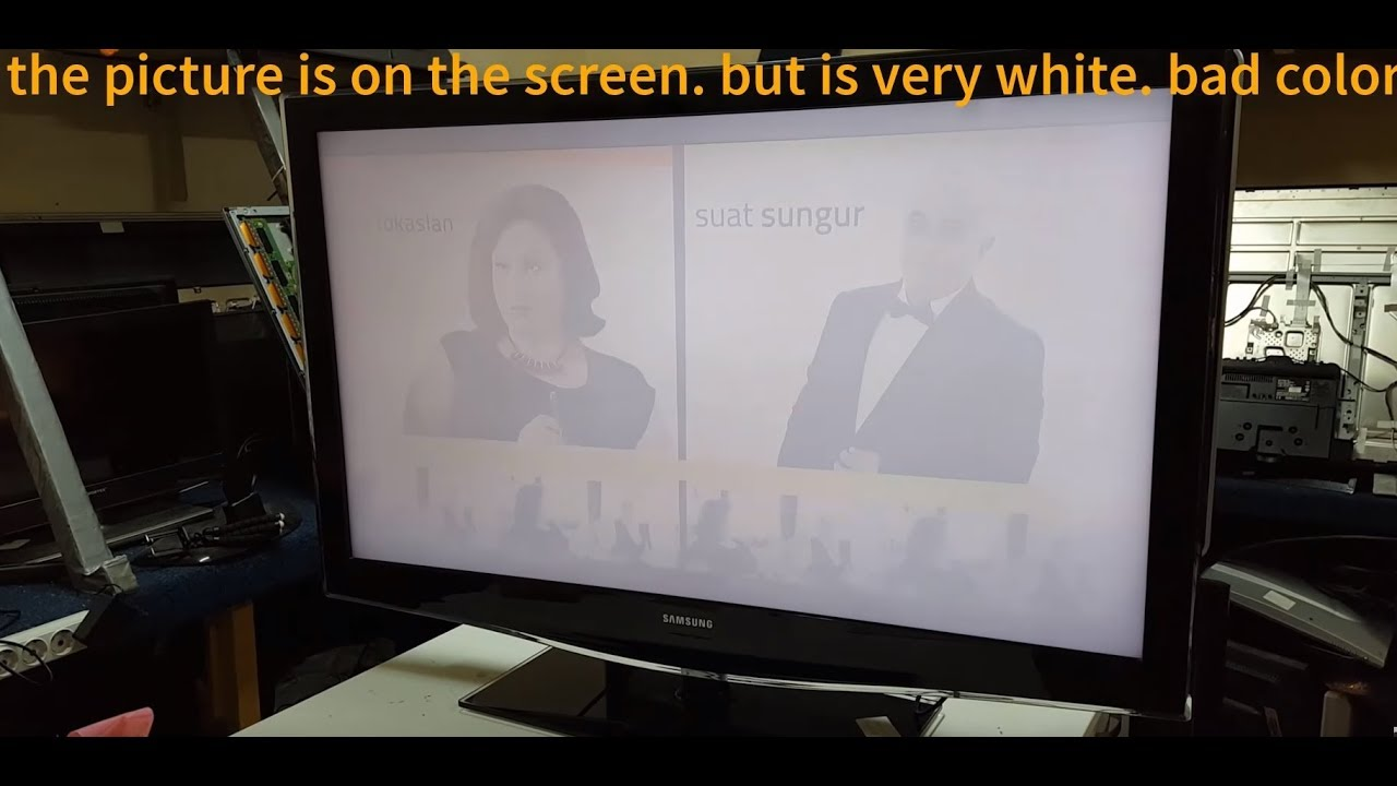 SAMSUNG LE46B679T2D  tv lcd  repair  photo  very bright with white on the  screen