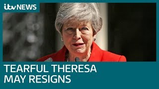 new pm by end of july as tearful theresa may confirms exit date itv news