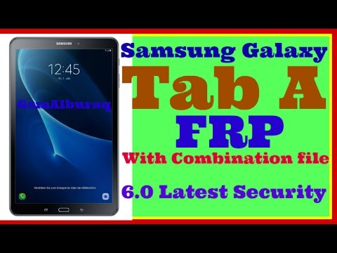 Samsung Galaxy Tab A T580 Simple Way To Bypass FRP 2017