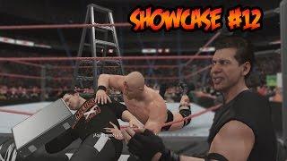 WWE 2K16 - Showcase - 2 Vs 1 - Lucha de Escaleras por la Presidencia de la WWE