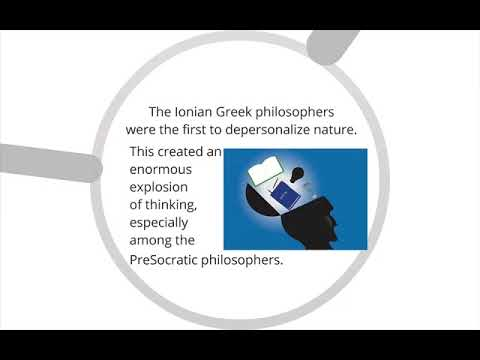 Ionian and Pre-Socratic Philosophy