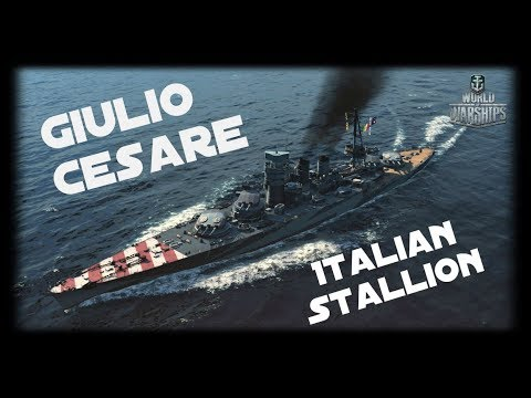 Let's Play World of Warships | Giulio Cesare | Italian Stallion [ Gameplay - German - Deutsch ]