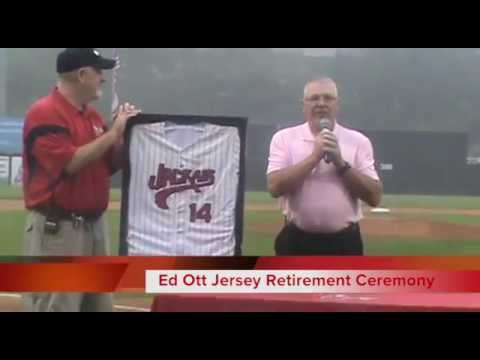 NJ Jackals Ed Ott Retirement Ceremony