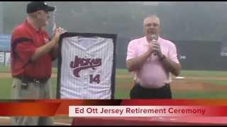 NJ Jackals Ed Ott Retirement Ceremony
