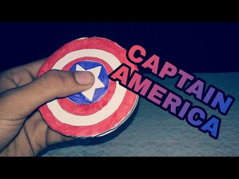 How to make a DIY Captain America Shield Fidget spinner | FIDGET SPINNER | KMA Insane Hacker