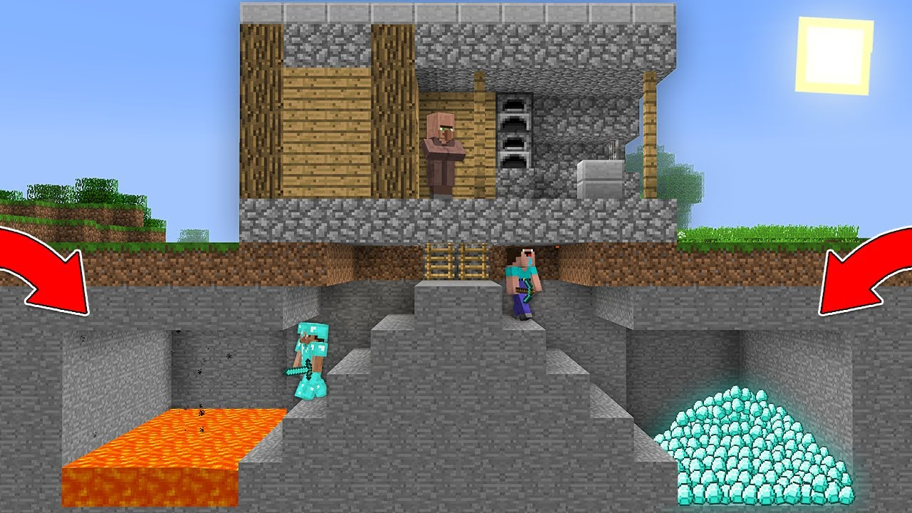 WHO CAN FIND THE DIAMONDS FIRST NOOB or PRO? Minecraft - NOOB vs PRO