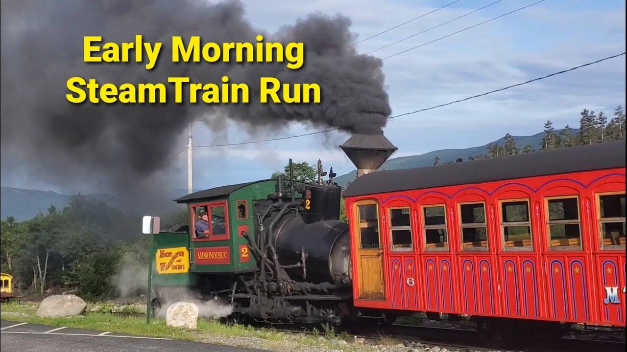 Steam Locomotive Climbing Mt Washington