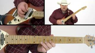 Johnny Hiland Guitar Lesson - #41 B Blues - Ten Gallon Guitar