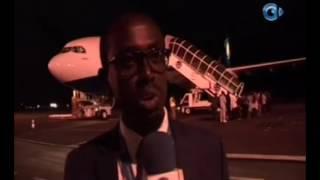 RTG / Inauguration de l'air bus A300 de 244 places a? l'aeroport de Libreville