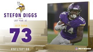 #73: Stefon Diggs (WR, Vikings) | Top 100 Players of 2019 | NFL