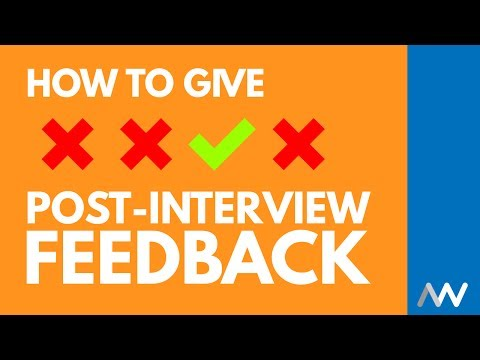 How to Give Candidate Feedback After an Interview - YouTube