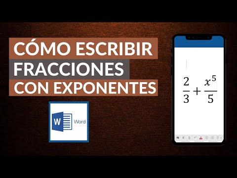 Cómo Poner o Escribir Fracciones en Word - Fracciones con Exponentes en Word